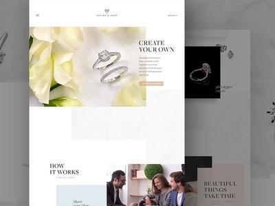Taylor & Hart jewelry gold wedding parallax luxury bespoke rings engagement rings diamonds
