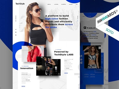 TechStyle modern dynamic minimalist clothes material design fashion sport corporate