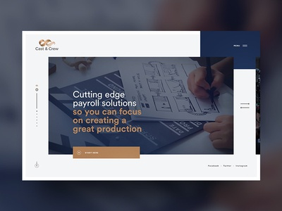 Cast & Crew worflow minimalist payroll industry accounting movie media corporate modern