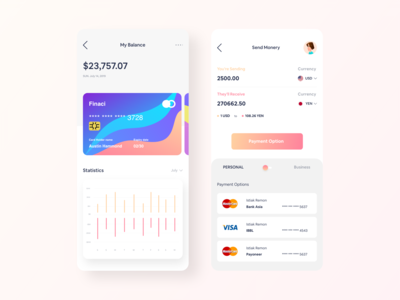 Wallet Activity App UI Volume 2