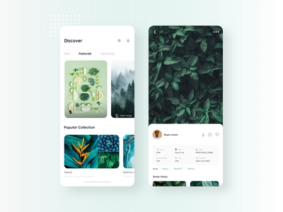 Free stock photos app UI
