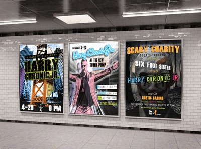 Gig posters for Harry Chronic Jr.