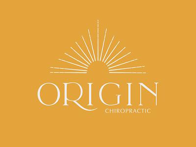 ORIGIN CHIROPRACTIC designer illustration wellness center wellness logo chiropractor chiropractic logotype brand identity design branding logo icon flat