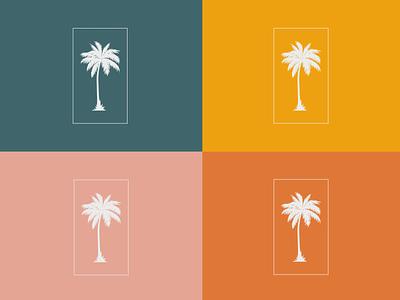 Origin Chiropractic | Palm Tree illustration brand assets branding design brand design brand identity logo branding vector designer icon flat design
