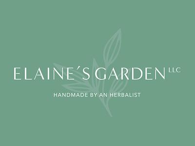 Elaine's Garden Brand Refresh typography illustration vector logotypedesign logotype designs for wellness brand refresh brand design branding brand identity icon design
