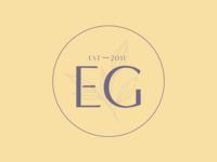 Elaine's Garden | Logo Variation illustration designer brand identity icon flat design logo design herbalist brand design branding logo variations logotype typeface condensed type
