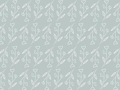 Elaine's Garden | Pattern Option Two line work procreate flat icon brand design design branding brand identity illustration pattern design pattern
