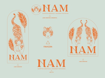 NAM branding logo vector flat brand identity icon illustration design