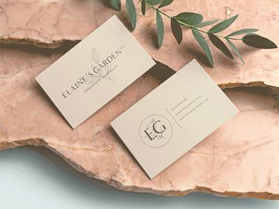 Elaine's Garden Business Cards businesscard collateral logo flat vector branding brand identity icon illustration design
