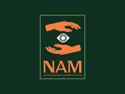 NAM Alternate logo vector flat branding brand identity icon illustration design