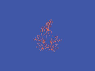 Sprout logo vector branding brand identity icon flat illustration design