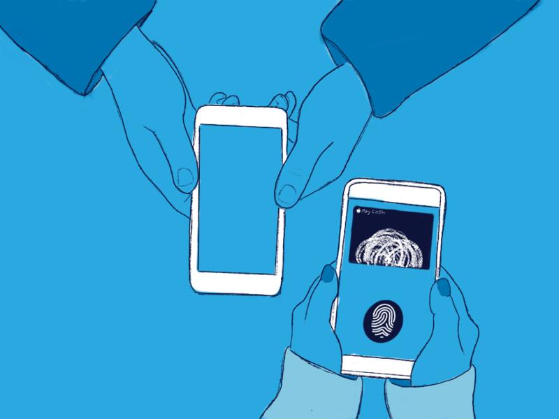 Mobile Banking App procreate line work draw artist design illustration art