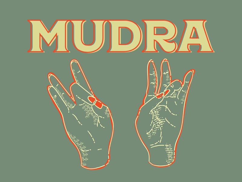 Mudra true grit texture supply hands mudra yoga vector flat icon line work illustration art