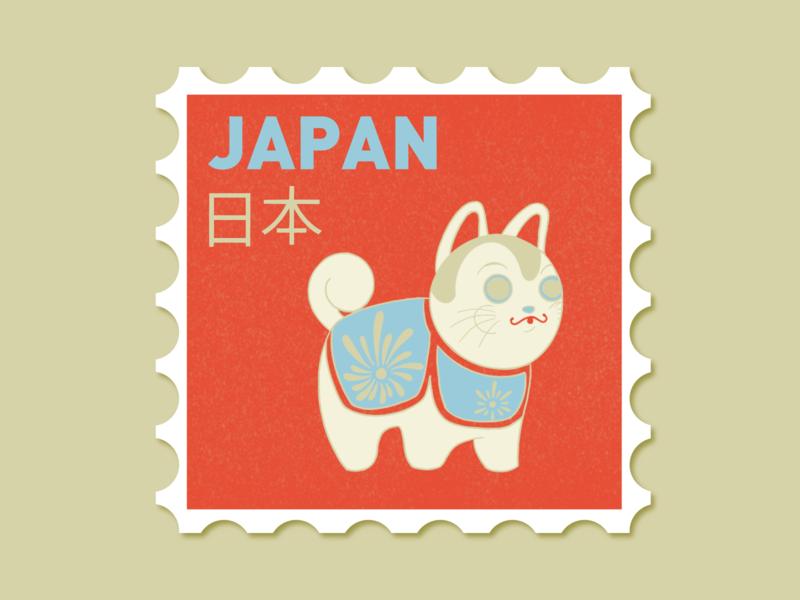 Japan | Weekly Warmup dribbble inu hairko japanese folk art japan dribbleweeklywarmup type flat icon draw procreate designer line work design art illustration