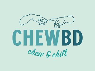 ChewBD Gum Branding draw icon flat designer line work design packaging product cbd logo cbd brand identity brand design branding brand