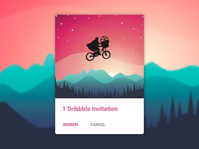 06. 1 Invitation to Dribbble! <3 material design material kit material ui material website typography vector ux ui minimal icon flat design clean app