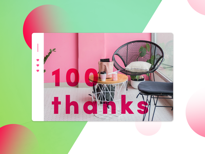 07. Thank you! - 100 Followers thank you vector ui icon flat app