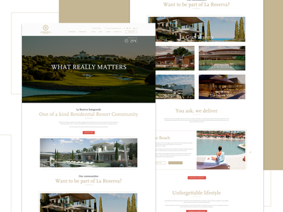 11. Sotogrande UI luxury font luxury brand white gold luxury branding website web typography logo ux clean flat design blue vector minimal icon ui app