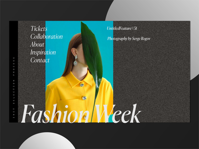 12. Fashion Week Hero Shot Inspiration illustration branding typography ux design web fashion art vector osx green blue black brown clean model fashion web fashion app ui minimal fashion