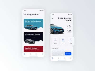 Car Rent app mobile design bmw rental car minimal app ux icon ui app ui