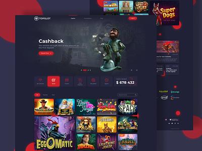 Redesign of Online Casino web design icon online games slots casino games casino ux web website design ui