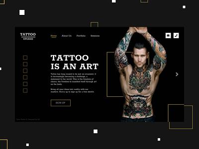 Tattoo Studio branding typography website tattoo artist promo tattoo design web ui