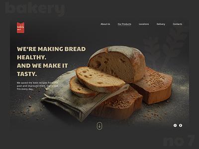 Bakery food bakery bread minimal icon typography branding website web ui design