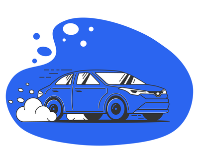Sedan Illustration car vector minimal illustrator design ui illustration