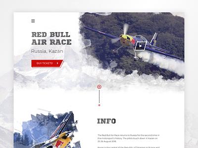 Website Red Bull Air Race typography branding website web design ui extream air race red bull plane