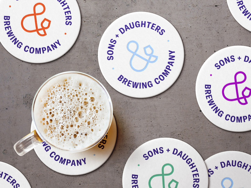 Sons + Daughters Brewing Co. Color Palette minimal company logo brand identity brewing company brewing daughters sons