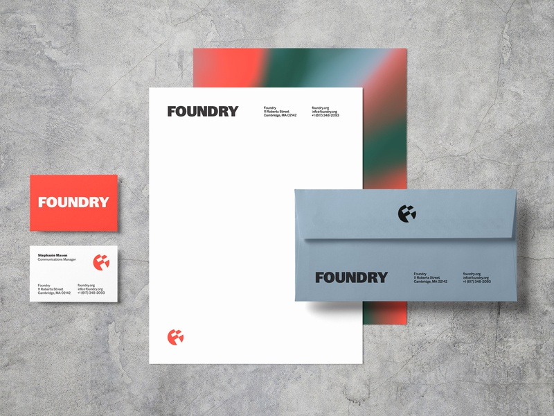 Foundry Identity, Color Palette + Stationary business card stationary caslon doric color icon foundry identity