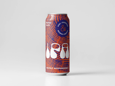 Sons + Daughters Brewing Co. Packaging ampersand texture identity design inclusive daughter sons beer can packaging design branding minimal identity