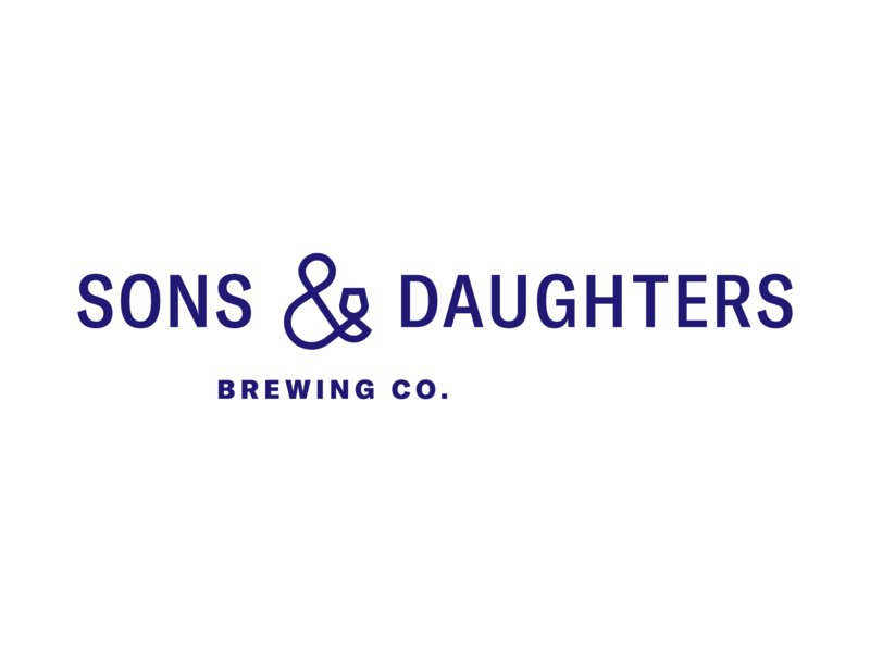 Sons & Daughters Brewing Co. Logo-mark identity typography ampersand logo brewery branding