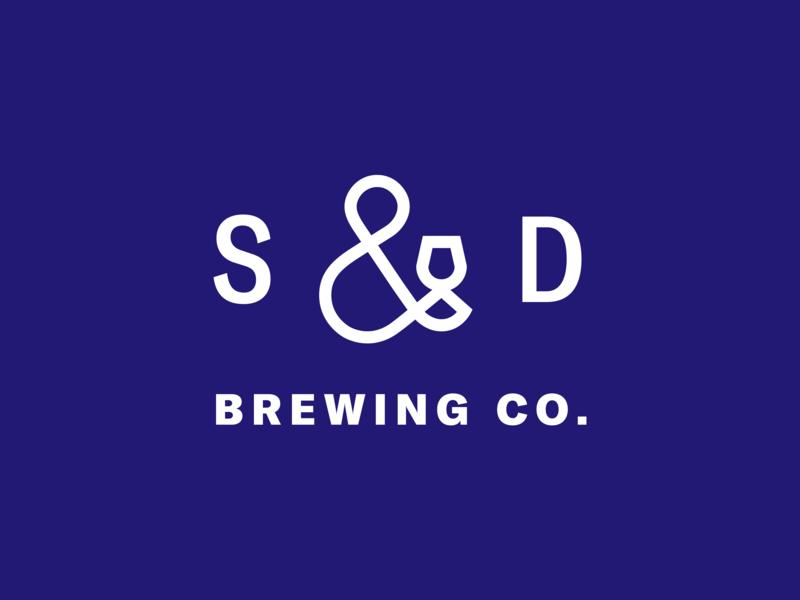 Sons & Daughters Brewing Co. Symbol identity minimal ampersand brewing logomark branding logo icon symbol