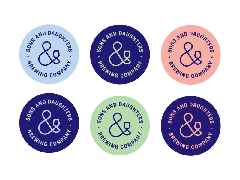 Sons & Daughters Brewing Co. Coasters idenity branding ampersand minimal brewrey coasters