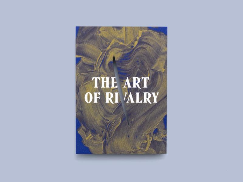 """The Art of Rivalry"" Event Invitation Suite design art direction diecut event rivalry art invitation"