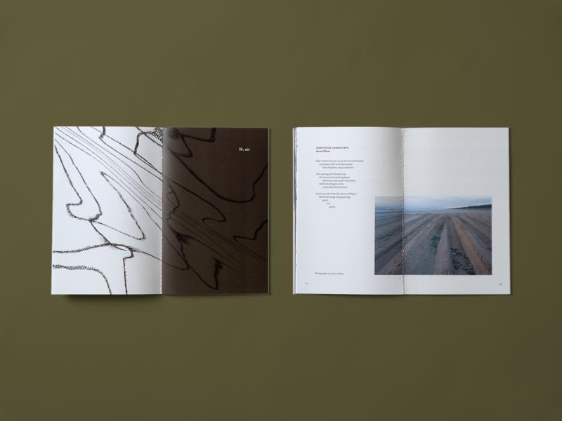 Harvard Art Anthology — Air Section saddle stitch print poetry illustration education climate change book art anthology