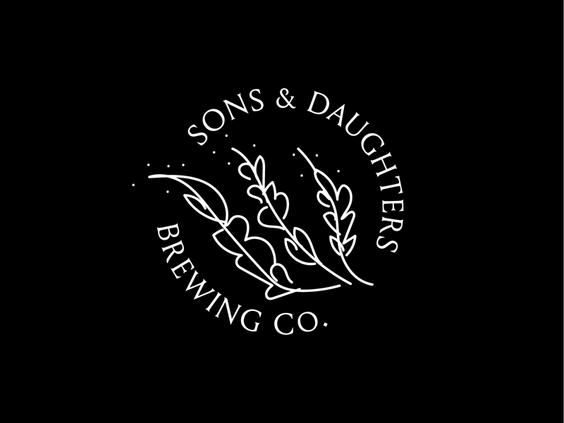 Sons and Daughters, Unused Logo ideation exploration unused logo daughters sons brewery