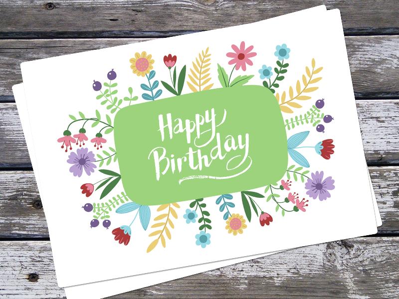 Happy Birthday design vector greeting brush stroke writing poster illustration happy