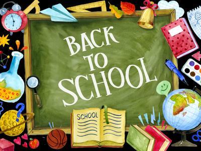 Back To School Watercolor