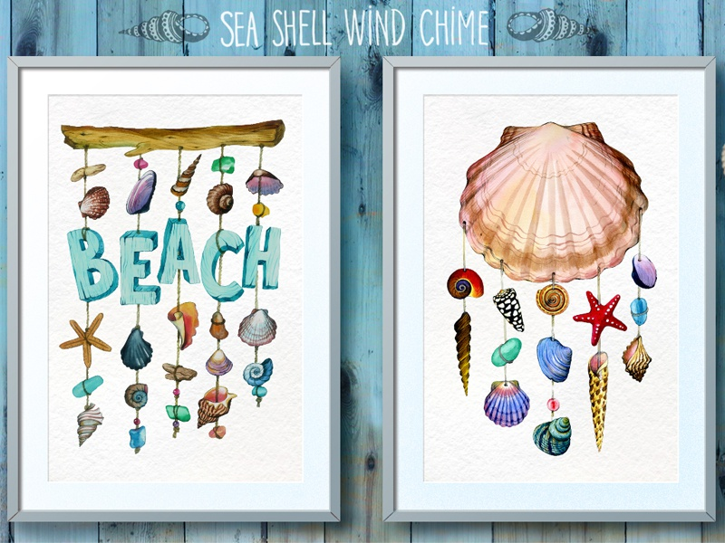 Watercolor sea shell vacation seashell nautilus sea shell clip art hand drawn clipart sea star sea creatures summer travel nautical