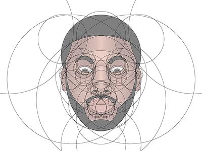 Meek Mill Portrait (Circles) rapper hiphop philadelphia vector golden ratio fibonacci circles portrait meek mill