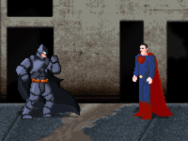 batman vs superman pixel - photo #12