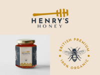 Henry's Honey Logo & Branding