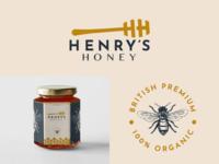 Henry's Honey Logo & Branding