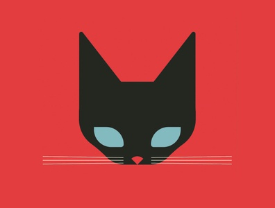 Black Cat black red cat