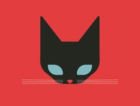 Black Cat black red cat