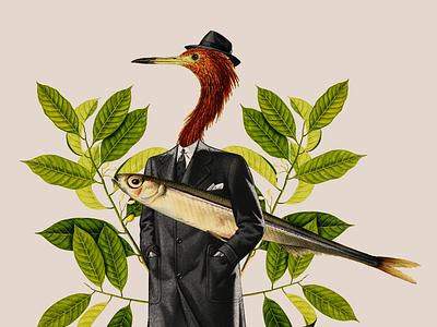 Collage 003 collage bird fish