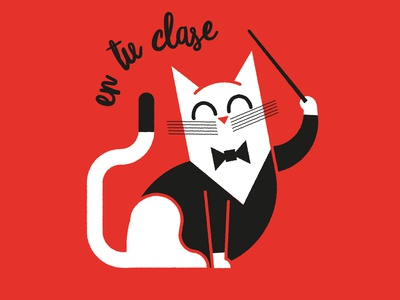 En tu clase tie animal director orchestra red cat