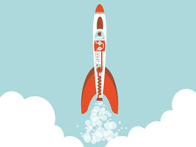 Bubble Rocket astronaut space rocket